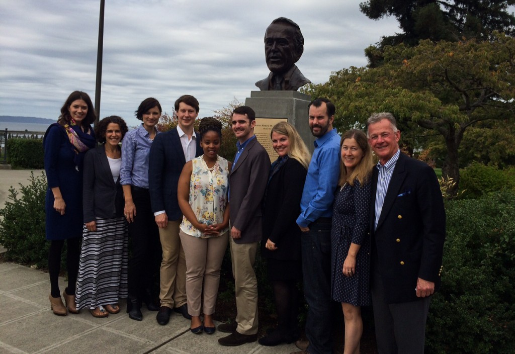 Jackson Fellows with Anna Marie Jackson Laurence and Foundation President John Hempelmann