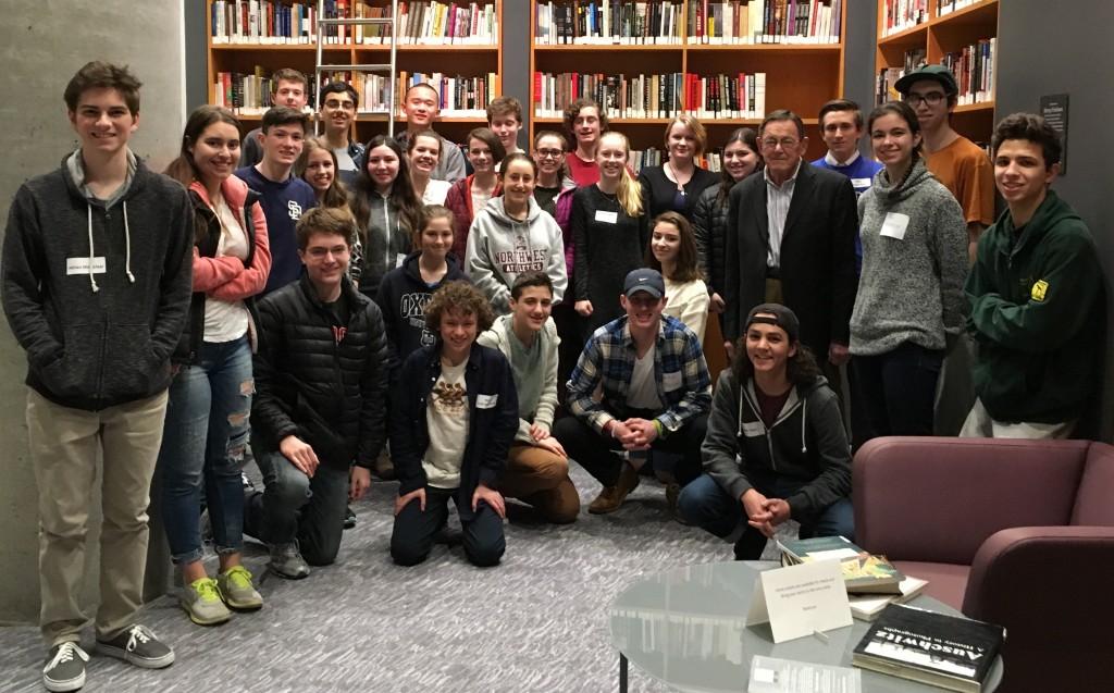 Student Leadership Board Feb 2016 w Steve Adler crop